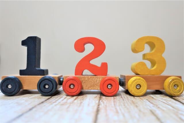 数字を現したおもちゃ