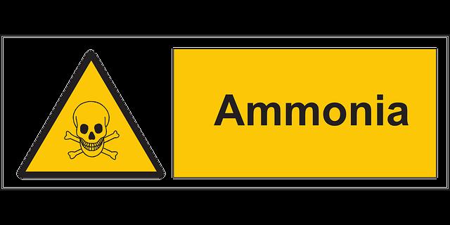 ドクロとアンモニア